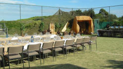 Aqualuna Resort - Outdoor Survivor Dinner Setting