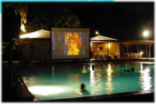 Movies in the pool - a great optional addition